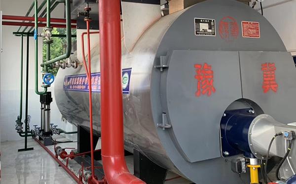商丘双鹤药业4吨冷凝一体燃气低氮30毫克锅炉投产运行